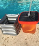 Box Pool Party argent et rouge